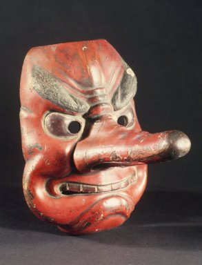<em>Tengu Mask</em>, 18th century. Wood, 8 1/4 x 6 3/4 in. (21 x 17.1 cm). Brooklyn Museum, 28.743. Creative Commons-BY (Photo: Brooklyn Museum, 28.743.jpg)