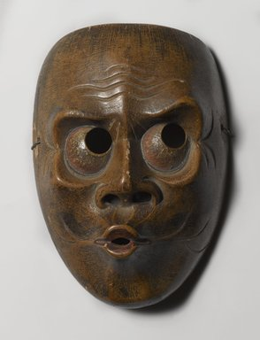 <em>Mask Possibly of Usofuki, Character in Kyogen Plays</em>, 18th-19th century. Wood, 5 1/16 x 7 1/16 in. (12.8 x 18 cm). Brooklyn Museum, Brooklyn Museum Collection, 28.744. Creative Commons-BY (Photo: Brooklyn Museum, 28.744_PS4.jpg)