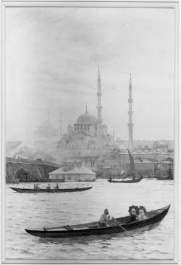 Tristram J. Ellis (British, 1844-1922). <em>Constantinople</em>, 1887. Watercolor, 21 x 14 in.  (53.3 x 35.6 cm). Brooklyn Museum, Bequest of Mary A. Brackett, 28.76 (Photo: Brooklyn Museum, 28.76_acetate_bw.jpg)