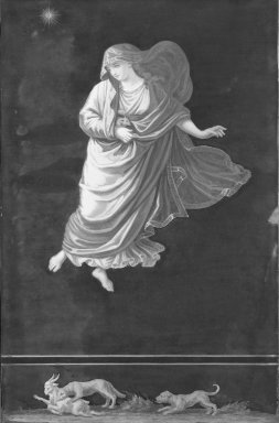 Unknown (Italian). <em>Pompeian Picture of Raphael's Hours (Arms Lowered)</em>, 19th century. Oil Brooklyn Museum, Bequest of Mary A. Brackett, 28.89 (Photo: Brooklyn Museum, 28.89_acetate_bw.jpg)