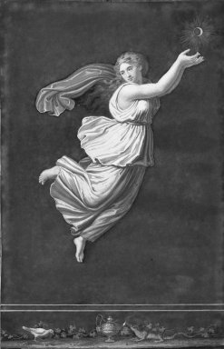 Unknown (Italian). <em>Pompeian Picture of Raphael's Hours (Arms Raised)</em>. Brooklyn Museum, Bequest of Mary A. Brackett, 28.91 (Photo: Brooklyn Museum, 28.91_acetate_bw.jpg)