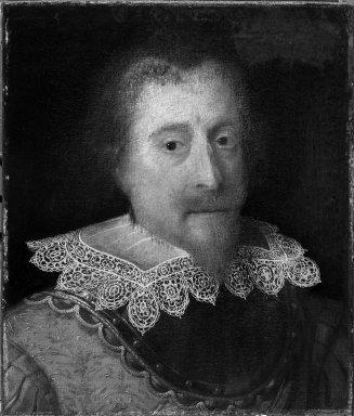 Jan Ravesteyn. <em>Portrait of the Prince of Orange</em>. Oil on wood, 19 1/2 x 16 1/2 in.  (49.5 x 41.9 cm). Brooklyn Museum, Gift of Mrs. Tunis G. Bergen, 29.1191 (Photo: Brooklyn Museum, 29.1191_acetate_bw.jpg)