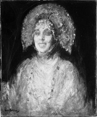 Harriet Blackstone (American, 1864-1939). <em>Madame Plevitzskaia</em>, ca. 1927. Oil on canvas, 28 x 24 1/8 in. (71.1 x 61.2 cm). Brooklyn Museum, Museum Collection Fund, 29.1193 (Photo: Brooklyn Museum, 29.1193_acetate_bw.jpg)