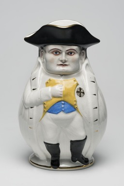 <em>Napoleon Jug</em>, 1895. Porcelain, belleek ware., 9 3/4 x 4 1/2 (of base) in. (24.8 x 11.4 cm). Brooklyn Museum, Bequest of Dr. Marion Reilly, 29.122. Creative Commons-BY (Photo: Brooklyn Museum, 29.122_overall_PS11.jpg)