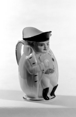 <em>Napoleon Jug</em>, ca. 1895. Porcelain, 4 in. (10.2 cm). Brooklyn Museum, Bequest of Dr. Marion Reilly, 29.123. Creative Commons-BY (Photo: Brooklyn Museum, 29.123_bw.jpg)