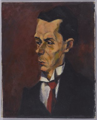 Lajos Tihanyi (Hungarian, 1885-1938). <em>The Critic</em>, 1916. Oil on canvas, 20 1/8 x 16 3/8 in. (51.1 x 41.6 cm). Brooklyn Museum, Gift of the Right Reverend John Torok, D.D., 29.1302 (Photo: Brooklyn Museum, 29.1302_PS9.jpg)