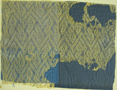 Chancay. <em>Headcloth, Fragment or Headcloth, Fragment</em>, 1000-1532. Cotton, 21 1/16 x 27 3/4 in. (53.5 x 70.5 cm). Brooklyn Museum, Museum Collection Fund, 29.1312.23. Creative Commons-BY (Photo: Brooklyn Museum, 29.1312.23_view2.jpg)