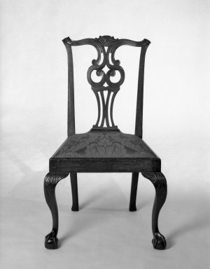 <em>Chippendale Chair</em>, ca. 1760. Brooklyn Museum, Museum Collection Fund, 29.1400. Creative Commons-BY (Photo: Brooklyn Museum, 29.1400_bw.jpg)