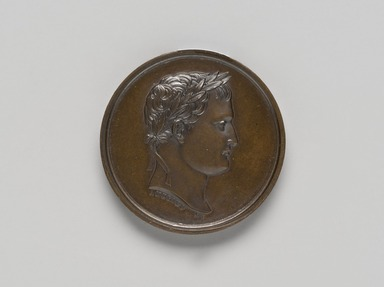 Unknown. <em>Medal</em>. Bronze, diameter: 1 5/16 in. (3.4 cm). Brooklyn Museum, Bequest of Marion Reilly, 29.1410. Creative Commons-BY (Photo: Brooklyn Museum, 29.1410_front_PS11.jpg)