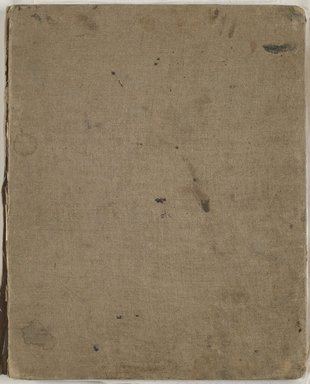 William Merritt Chase (American, 1849-1916). <em>Sketchbook</em>, 1872. Graphite and black, red and white Conté crayon on cream and tan medium-weight, slightly textured wove paper, 11 7/8 x 9 7/16 x 11/16 in. (30.2 x 24 x 1.7 cm). Brooklyn Museum, Gift of Newhouse Galleries, Inc., 29.27.11 (Photo: Brooklyn Museum, 29.27.11_p00_front_cover_PS6.jpg)