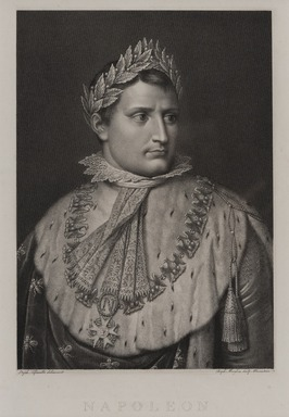 Rafaello Morghen (Italian, 1758-1833). <em>Napoleon</em>. Engraving on wove paper, 20 1/8 × 14 5/16 in. (51.1 × 36.4 cm). Brooklyn Museum, Bequest of Marion Reilly, 29.96 (Photo: Brooklyn Museum, 29.96_PS11.jpg)