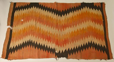 Navajo. <em>Blanket</em>, ca. 1880. Wool, dye, 41 x 72 in. (104.1 x 182.9 cm). Brooklyn Museum, Gift of John Condon, 30.1068.2. Creative Commons-BY (Photo: Brooklyn Museum, 30.1068.2_PS5.jpg)