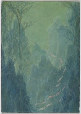 Zarh H. Pritchard. <em>Bream in 25 Feet of Water Off the West Coast of Scotland</em>, 1910. Pastel, Image: 23 5/16 x 16 9/16 in. (59.2 x 42 cm). Brooklyn Museum, Anonymous gift, 30.1147 (Photo: Brooklyn Museum, 30.1147_PS6.jpg)