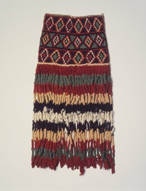 Inca. <em>Bag Tassel</em>, 1400-1532. Cotton, camelid fiber, 15 x 7 in. (38.1 x 17.8 cm). Brooklyn Museum, Gift of George D. Pratt, 30.1183. Creative Commons-BY (Photo: Brooklyn Museum, 30.1183_transp6169.jpg)
