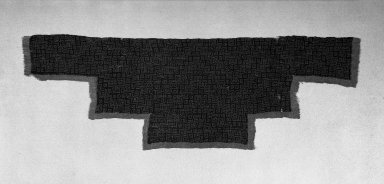 Nazca. <em>Textile Fragment, Unascertainable or Mantle, Fragment</em>, 200-1000 C.E. Camelid fiber, 13 3/8 x 40 9/16 in. (34 x 103 cm). Brooklyn Museum, Gift of George D. Pratt, 30.1205. Creative Commons-BY (Photo: Brooklyn Museum, 30.1205_acetate_bw.jpg)
