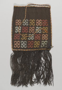 Nazca-Wari. <em>Bag</em>, 200-1000 C.E. Camelid fiber, 5 7/8 x 11 13/16 in. (15 x 30 cm). Brooklyn Museum, Gift of George D. Pratt, 30.1215. Creative Commons-BY (Photo: Brooklyn Museum, 30.1215_front_PS4.jpg)
