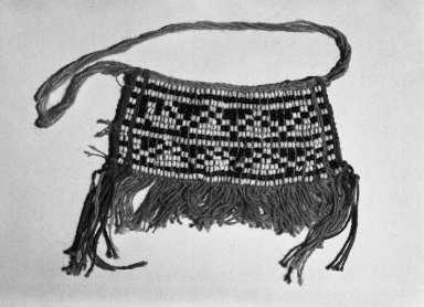 Makushi-Monaiko. <em>Secondary Apron</em>. Blue and white beads Brooklyn Museum, Museum Expedition 1930, Robert B. Woodward Memorial Fund and the Museum Collection Fund, 30.1356. Creative Commons-BY (Photo: Brooklyn Museum, 30.1356_acetate_bw.jpg)