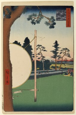 Utagawa Hiroshige (Ando) (Japanese, 1797-1858). <em>Takata Riding Grounds, No. 115 from One Hundred Famous Views of Edo</em>, 2nd month of 1857. Woodblock print, sheet:  14 3/16 x 9 1/4 in.  (36.0 x 23.5 cm);. Brooklyn Museum, Gift of Anna Ferris, 30.1478.115 (Photo: Brooklyn Museum, 30.1478.115_PS1.jpg)