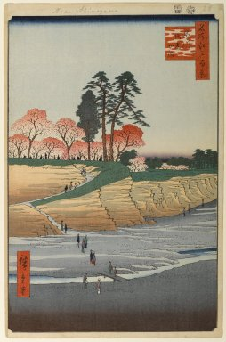 Utagawa Hiroshige (Ando) (Japanese, 1797-1858). <em>Gotenyama, Shinagawa, No. 28 in One Hundred Famous Views of Edo</em>, 4th month of 1856. Woodblock print, Image: 13 11/16 x 9 in. (34.8 x 22.9 cm). Brooklyn Museum, Gift of Anna Ferris, 30.1478.28 (Photo: Brooklyn Museum, 30.1478.28_PS1.jpg)
