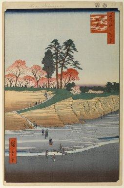 Utagawa Hiroshige (Ando) (Japanese, 1797-1858). <em>Gotenyama, Shinagawa, No. 28 in One Hundred Famous Views of Edo</em>, 4th month of 1856. Woodblock print, Image: 13 11/16 x 9 in. (34.8 x 22.9 cm). Brooklyn Museum, Gift of Anna Ferris, 30.1478.28 (Photo: Brooklyn Museum, 30.1478.28_PS1.jpg)