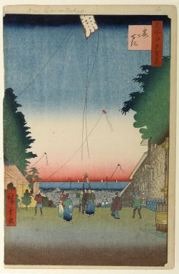 Utagawa Hiroshige (Ando) (Japanese, 1797-1858). <em>Kasumigaseki, No. 2 in One Hundred Famous Views of Edo</em>, 1st month of 1857. Woodblock print, Image: 13 1/2 x 8 3/4 in. (34.3 x 22.2 cm). Brooklyn Museum, Gift of Anna Ferris, 30.1478.2 (Photo: Brooklyn Museum, 30.1478.2_PS1.jpg)