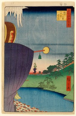 Utagawa Hiroshige (Ando) (Japanese, 1797-1858). <em>Sanno Festival Procession at Kojimachi l-Chome, No. 51 from One Hundred Famous Views of Edo</em>, 7th month of 1856. Woodblock print, Sheet: 14 5/16 x 9 5/16 in. (36.4 x 23.7 cm). Brooklyn Museum, Gift of Anna Ferris, 30.1478.51 (Photo: Brooklyn Museum, 30.1478.51_PS1.jpg)