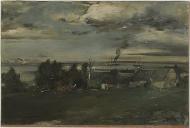 Walter Shirlaw (American, 1838-1909). <em>Lake Superior</em>, ca. 1890. Oil on board, 12 1/4 x 18 7/16 in. (31.1 x 46.9 cm). Brooklyn Museum, Gift of Mrs. Horace Williston, 30.18 (Photo: Brooklyn Museum, 30.18_PS1.jpg)