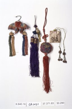 <em>Pouch for Incense</em>, 20th century. Silk, 11 1/4 in. (28.6 cm). Brooklyn Museum, Estate of Stewart Culin, Museum Purchase, 30.290. Creative Commons-BY (Photo: Brooklyn Museum, 30.290.jpg)