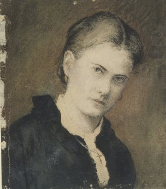 Ralph Albert Blakelock (American, 1847-1919). <em>Portrait of Artist's Wife</em>. Watercolor Brooklyn Museum, Museum Collection Fund, 30.58 (Photo: Brooklyn Museum, 30.58.jpg)