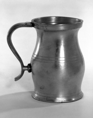 <em>One of a Set of Four Measures, Baluster Type</em>, 1833. Pewter, height: 3 1/2 in. (8.9 cm). Brooklyn Museum, Gift of Mrs. Frederic B. Pratt, 30.902.4. Creative Commons-BY (Photo: Brooklyn Museum, 30.902.4_bw.jpg)