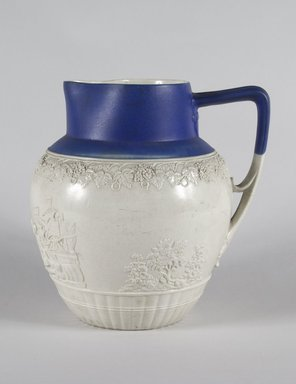<em>Pitcher</em>, ca. 1820. Salt-glaze stoneware, 9 x 3 5/8 in. (22.9 x 9.2 cm). Brooklyn Museum, Gift of Mrs. Frederic B. Pratt, 30.903. Creative Commons-BY (Photo: Brooklyn Museum, 30.903_PS5.jpg)