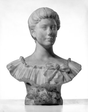 William Ordway Partridge (American, 1861-1930). <em>Portrait of Sarah Baker Hester</em>, 1905. Marble, 25 1/2 x 21 x 12 1/2 in. (64.8 x 53.3 x 31.8 cm). Brooklyn Museum, Gift of Mrs. Charles R. Baker, 30.923. Creative Commons-BY (Photo: Brooklyn Museum, 30.923_bw.jpg)