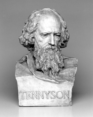 William Ordway Partridge (American, 1861-1930). <em>Portrait of Alfred Lord Tennyson</em>, 1899. Plaster, 21 x 13 1/2 x 10 7/8 in. (53.3 x 34.3 x 27.6 cm). Brooklyn Museum, Gift of Mrs. Charles R. Baker, 30.924. Creative Commons-BY (Photo: Brooklyn Museum, 30.924_bw.jpg)