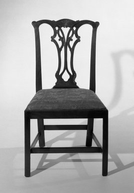 <em>Chair</em>, 18th century., 37 3/4 x 21 x 18 in. (95.9 x 53.3 x 45.7 cm). Brooklyn Museum, 31.175.1. Creative Commons-BY (Photo: Brooklyn Museum, 31.175.1_bw.jpg)