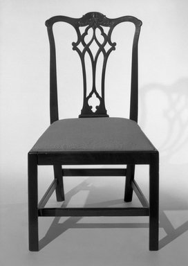 <em>Chair</em>, 18th century. Mahogany, 37 3/4 x 21 3/4 x 18 1/4 in. (95.9 x 55.2 x 46.4 cm). Brooklyn Museum, 31.175.2. Creative Commons-BY (Photo: Brooklyn Museum, 31.175.2_bw.jpg)