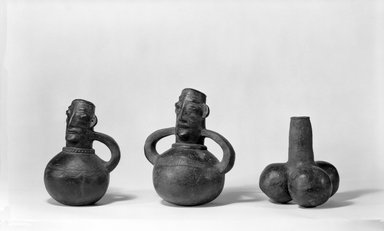 Mangbetu. <em>Anthropomorphic Pot</em>, early 20th century. Terracotta, 8 x 5 3/4 x 4 1/2 in. (20.0 x 14.7 x 11.5 cm). Brooklyn Museum, Museum Expedition 1931, Robert B. Woodward Memorial Fund, 31.1761. Creative Commons-BY (Photo: , 31.1761_31.1763_31.1823_bw.jpg)