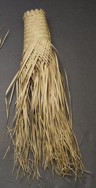 Pygmy, Mabudu. <em>Unfinished Hat</em>, early 20th century. Palm fiber, 15 3/4 x 8 5/8 in.  (40.0 x 21.9 cm). Brooklyn Museum, Museum Expedition 1931, Robert B. Woodward Memorial Fund, 31.1952. Creative Commons-BY (Photo: Brooklyn Museum, 31.1952_side_PS10.jpg)