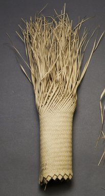 Budu. <em>Unfinished Hat</em>, early 20th century. Palm fiber, 14 15/16 x 9 7/16 in.  (38 x 24 cm). Brooklyn Museum, Museum Expedition 1931, Robert B. Woodward Memorial Fund, 31.1953. Creative Commons-BY (Photo: Brooklyn Museum, 31.1953_side_PS10.jpg)