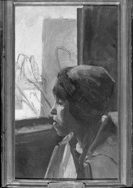 Jean Hippolyte Marchand (French, 1883-1940). <em>Study</em>, n.d. Oil on canvas, 24 1/8 x 15 in. (61.3 x 38.1 cm). Brooklyn Museum, Gift of Mr. and Mrs. William Slocum Davenport, 32.124 (Photo: Brooklyn Museum, 32.124_acetate_bw.jpg)