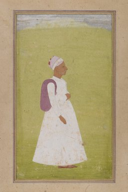 Indian. <em>An Old Man</em>, ca. 1730. Opaque watercolor on paper, sheet: 9 3/8 x 5 7/16 in.  (23.8 x 13.8 cm). Brooklyn Museum, Gift of the executors of the Estate of Colonel Michael Friedsam, 32.1322 (Photo: Brooklyn Museum, 32.1322_IMLS_PS4.jpg)