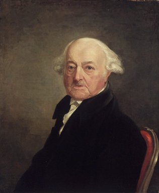 Samuel Finley Breese Morse (American, 1791-1872). <em>Portrait of John Adams</em>, 1816. Oil on canvas, 29 3/4 x 24 15/16 in. (75.5 x 63.4 cm). Brooklyn Museum, Gift of Harriet H. White, 32.144 (Photo: Brooklyn Museum, 32.144_transp1094.jpg)