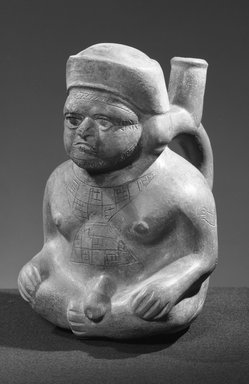 Moche. <em>Effigy Vessel</em>. Brooklyn Museum, Robert B. Woodward Memorial Fund, 32.1586. Creative Commons-BY (Photo: Brooklyn Museum, 32.1586_acetate_bw.jpg)