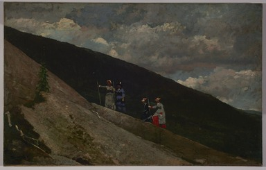 Winslow Homer (American, 1836-1910). <em>In the Mountains</em>, 1877. Oil on canvas, 23 7/8 x 38 1/8 in. (60.6 x 96.9 cm). Brooklyn Museum, Dick S. Ramsay Fund, 32.1648 (Photo: , 32.1648_PS11.jpg)