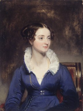 Henry Inman (American, 1801-1846). <em>Portrait of a Woman</em>, ca. 1825. Oil on panel, 8 x 6 3/8 in. (20.3 x 16.2 cm). Brooklyn Museum, Lydia Richardson Babbott Fund, 32.1680 (Photo: Brooklyn Museum, 32.1680_transp1098.jpg)