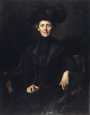 Emil Fuchs (American, born Austria, 1866-1929). <em>Lady in Black</em>, 1901. Oil on canvas, 46 15/16 x 36 15/16 in. (119.2 x 93.8 cm). Brooklyn Museum, Gift of the Estate of Emil Fuchs, 32.199.7 (Photo: Brooklyn Museum, 32.199.7.jpg)