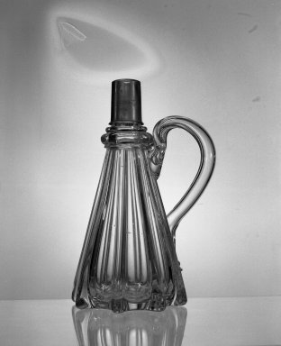 American. <em>Cruet</em>. Glass Brooklyn Museum, Gift of Theodora Wilbour, 32.2086. Creative Commons-BY (Photo: Brooklyn Museum, 32.2086_acetate_bw.jpg)