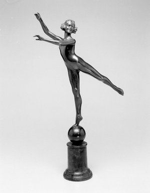 Emil Fuchs (American, born Austria, 1866-1929). <em>Arabesque</em>, 1922. Bronze, 22 9/16 x 13 7/8 x 4 1/8 in. (57.3 x 35.2 x 10.5 cm). Brooklyn Museum, Gift of the Estate of Emil Fuchs, 32.2092.29. Creative Commons-BY (Photo: Brooklyn Museum, 32.2092.29_bw.jpg)