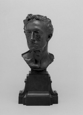 Emil Fuchs (American, born Austria, 1866-1929). <em>Sir Johnston Forbes-Robertson</em>, 1898. Bronze, 10 1/16 x 4 1/2 x 3 7/8 in. (25.6 x 11.4 x 9.8 cm). Brooklyn Museum, Gift of the Estate of Emil Fuchs, 32.2092.4. Creative Commons-BY (Photo: Brooklyn Museum, 32.2092.4_bw.jpg)