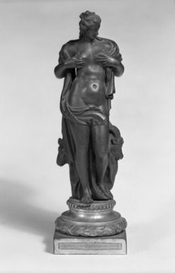 Unknown. <em>Nature</em>, late 16th century. Bronze, H. including base: 7 3/4 in. (19.7 cm). Brooklyn Museum, Gift of the executors of the Estate of Colonel Michael Friedsam, 32.602b. Creative Commons-BY (Photo: Brooklyn Museum, 32.602b_front_view1_bw.jpg)