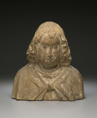 Unknown. <em>Bust of St. John</em>, 15th century. Wood, Height: 11 1/4 in. (28.6 cm). Brooklyn Museum, Gift of the executors of the Estate of Colonel Michael Friedsam, 32.667. Creative Commons-BY (Photo: Brooklyn Museum, 32.667_front_PS2.jpg)